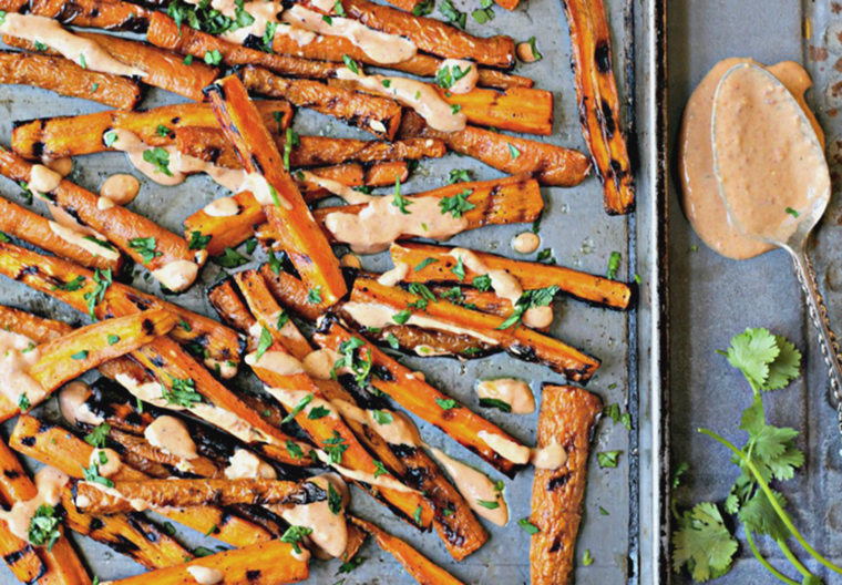 Image: Grilled carrots with chipotle lime aioli