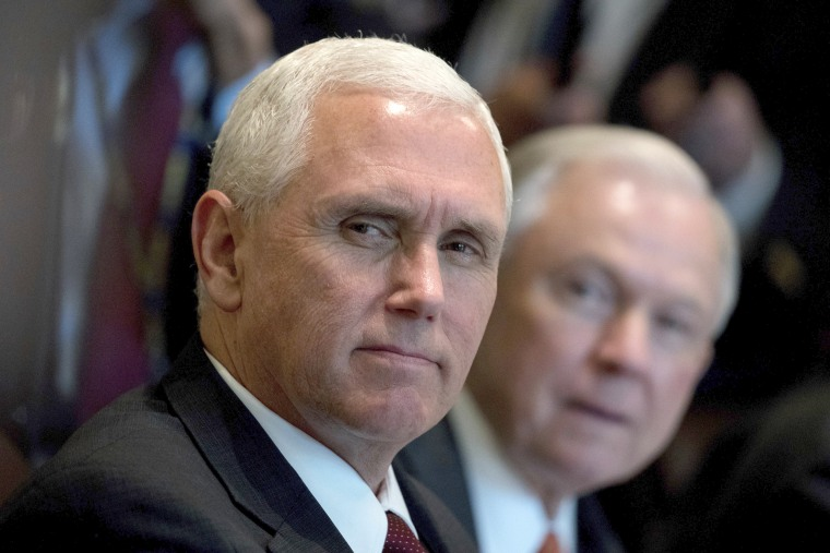 Image: Mike Pence, Jeff Sessions