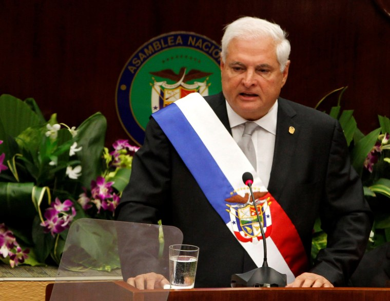 Image: Panama's former President Martinelli pictured while in office in 2013