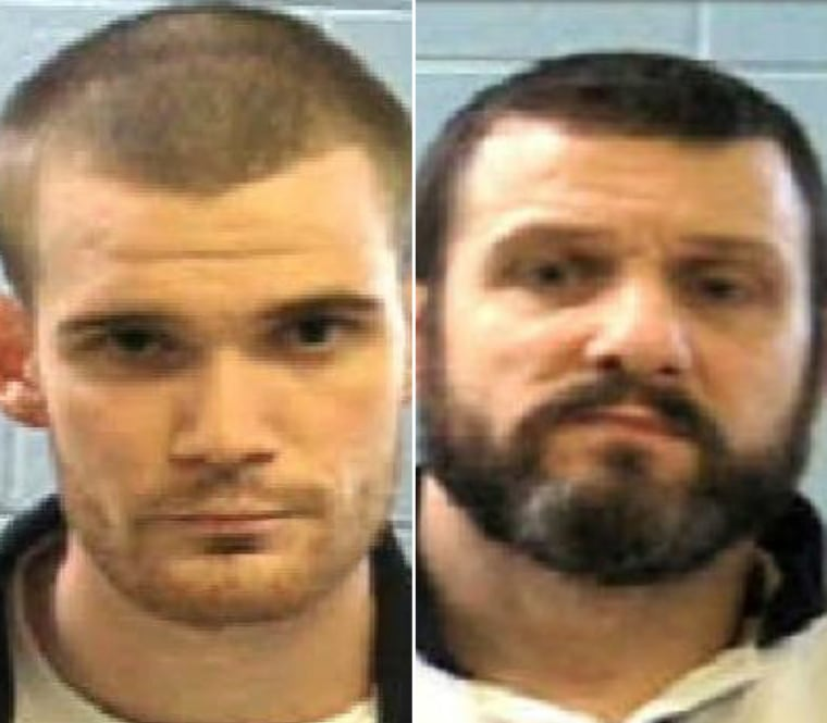 Two escaped prisoners, Ricky Dubose, left, and Donnie Russell Rowe are on the run in Putnam County, Georgia.
