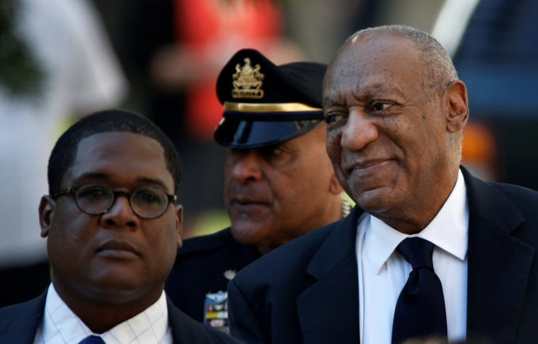 Image: Bill Cosby arrives for jury deliberations at the Montgomery County Courthouse in Norristown