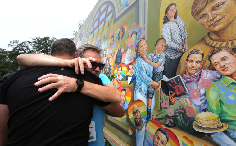 Image: Mourners Marks First Anniversary Of Orlando Pulse Nightclub Mass Shooting