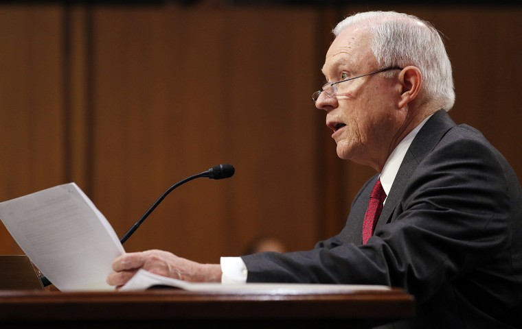 Image: Attorney General Jeff Sessions Testifies on Russia Investigation
