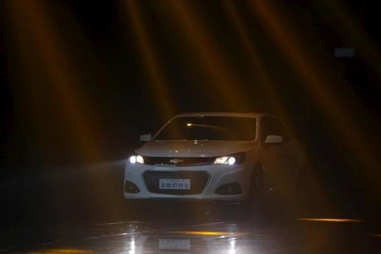 Chevrolet S Malibu Is Seen During A Presentation At An Event Ahead Of The 16th Shanghai International