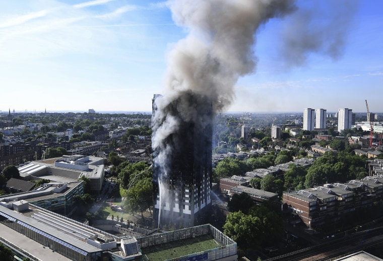 Image: Smoke rises from the Grenfell Tower apartment block in London