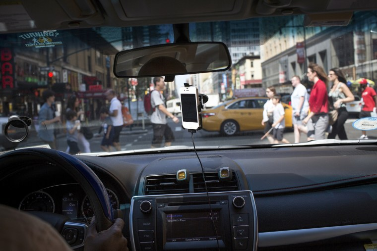 Image: An UberX car in New York.