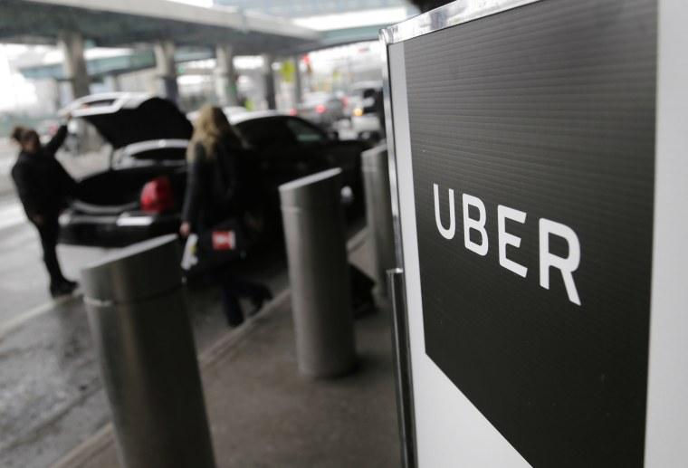 Image: Uber at LaGuardia Airport
