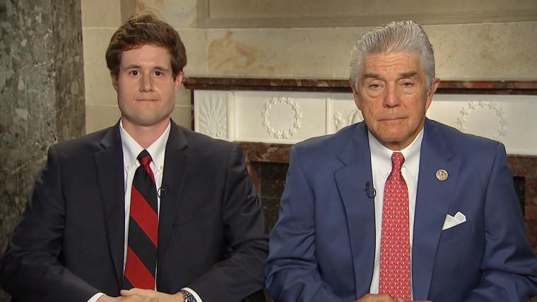 Congressman Roger Williams and Zack Barth