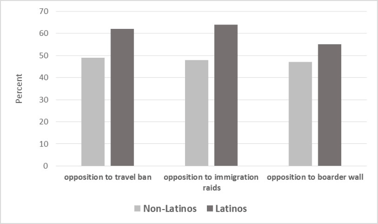 Graph: Opposition to Minority Related Policies