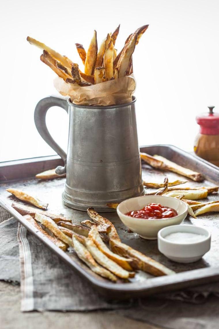 Skinny oven fries