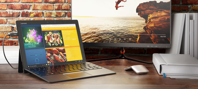 The Lenovo Miix 720 is a 2-in-1 detachable laptop so Dad can get the best of both worlds.