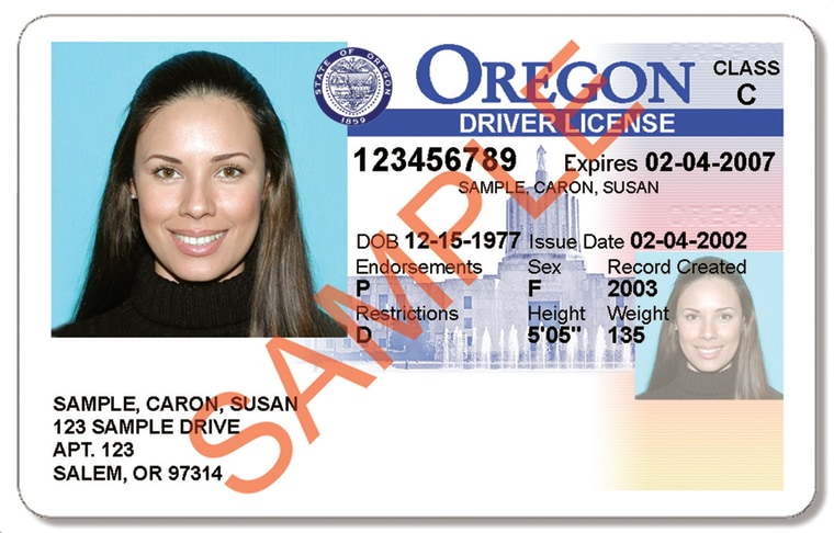 Image: Oregon DMV