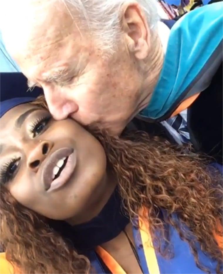 Image: Joe Biden kisses Morgan State graduate Brieana Carter
