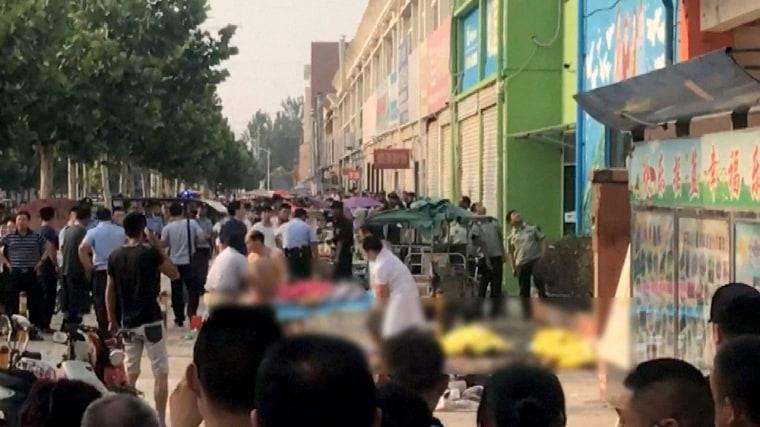 Image: China kindergarten explosion