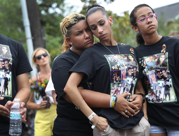 Image: Mourners Marks 1st Anniversary Of Orlando Pulse Nightclub Mass Shooting
