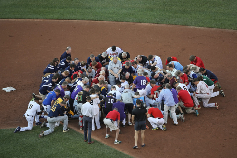 Image: *** BESTPIX *** BESTPIX Lawmakers Play In Congressional Baseball Game One Day After Shooting Incident *** BESTPIX ***