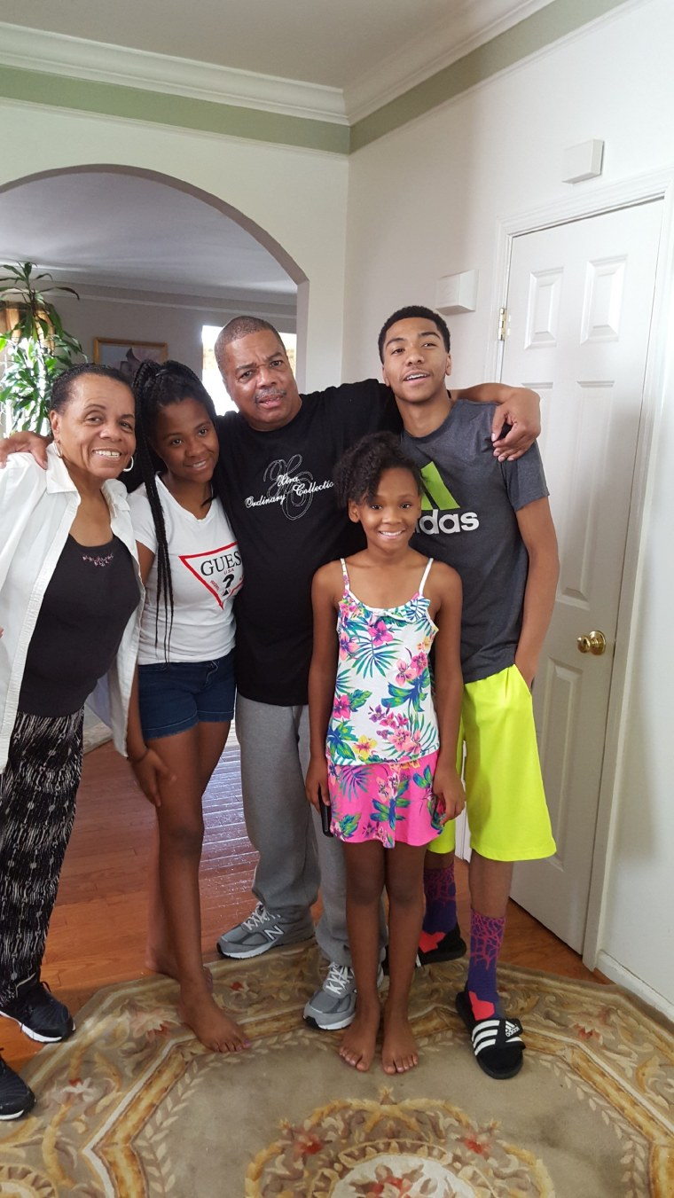 Image: Evans Ray with his family