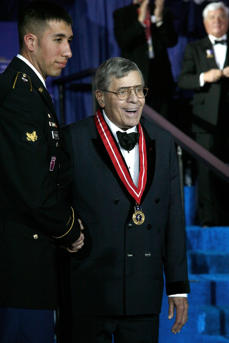 Image: Jerry Lewis at the Ellis Island Medals of Honor Ceremony