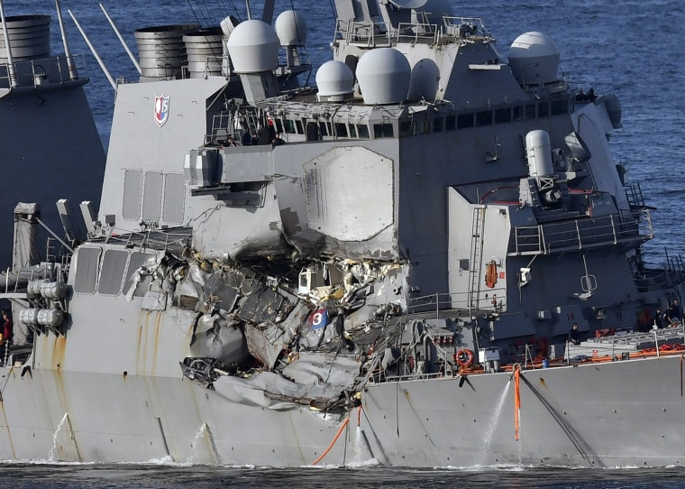 Image: US Navy ship collides with a container ship off the coast of Japan