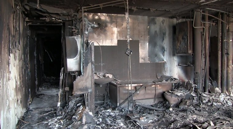 Image: West London tower block fire aftermath