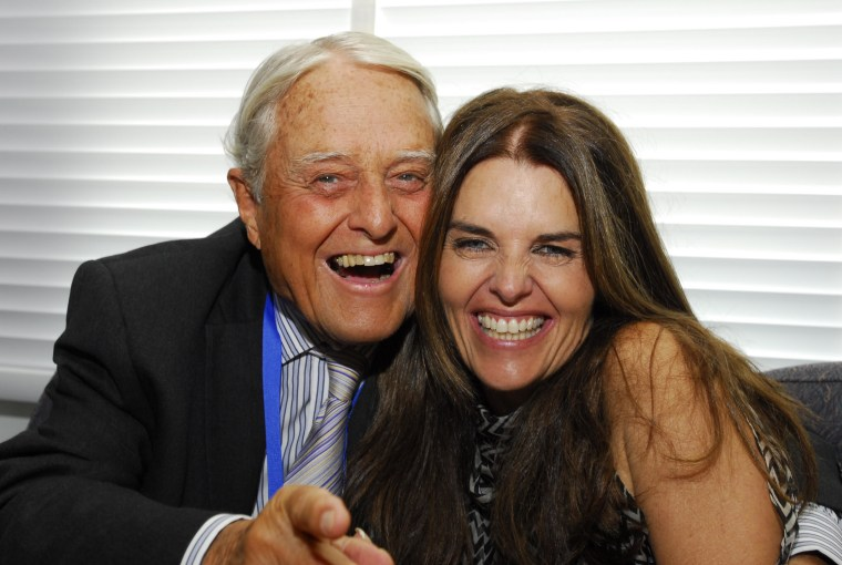 Maria Shriver with her dad