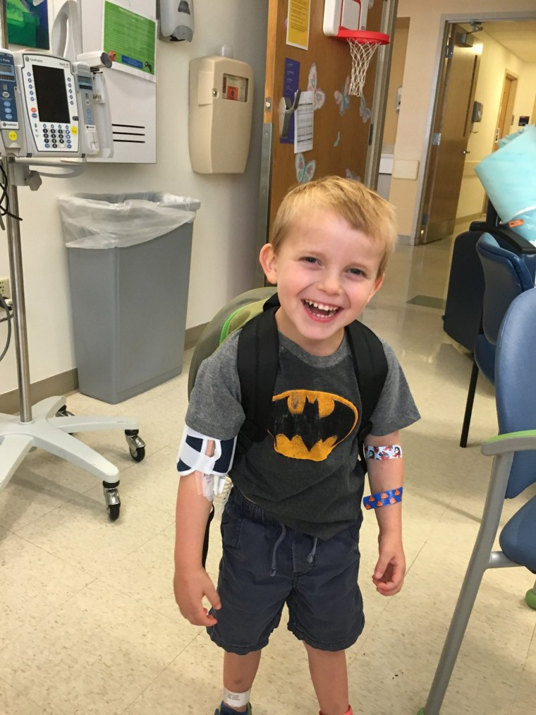 Ari in August 2016 when he was placed on the transplant list for a new heart.