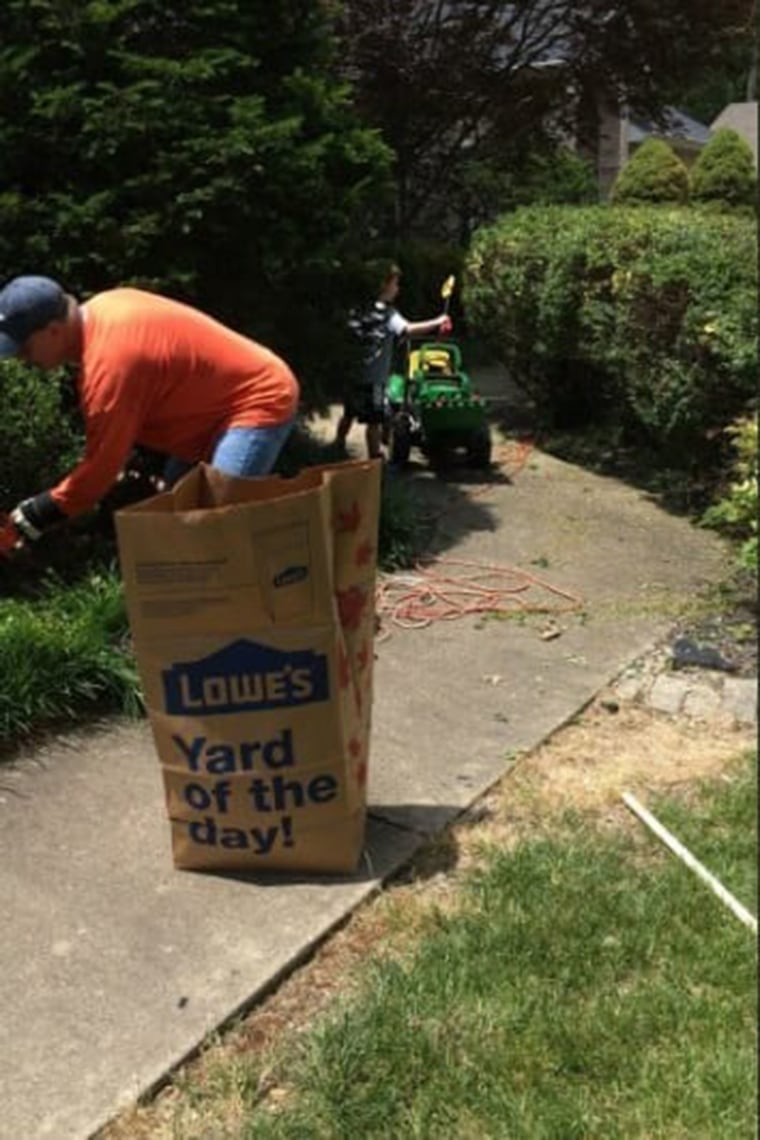 Brian and his neighbor Dean first bonded over yard work.