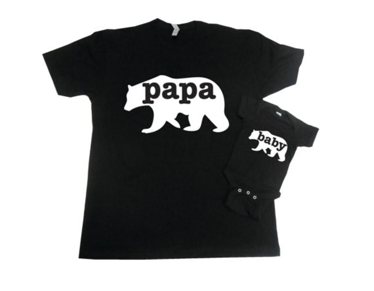 Papa Bear and Baby Bear Matching Set