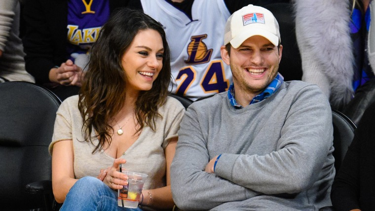 Image: Celebrities At The Los Angeles Lakers Game