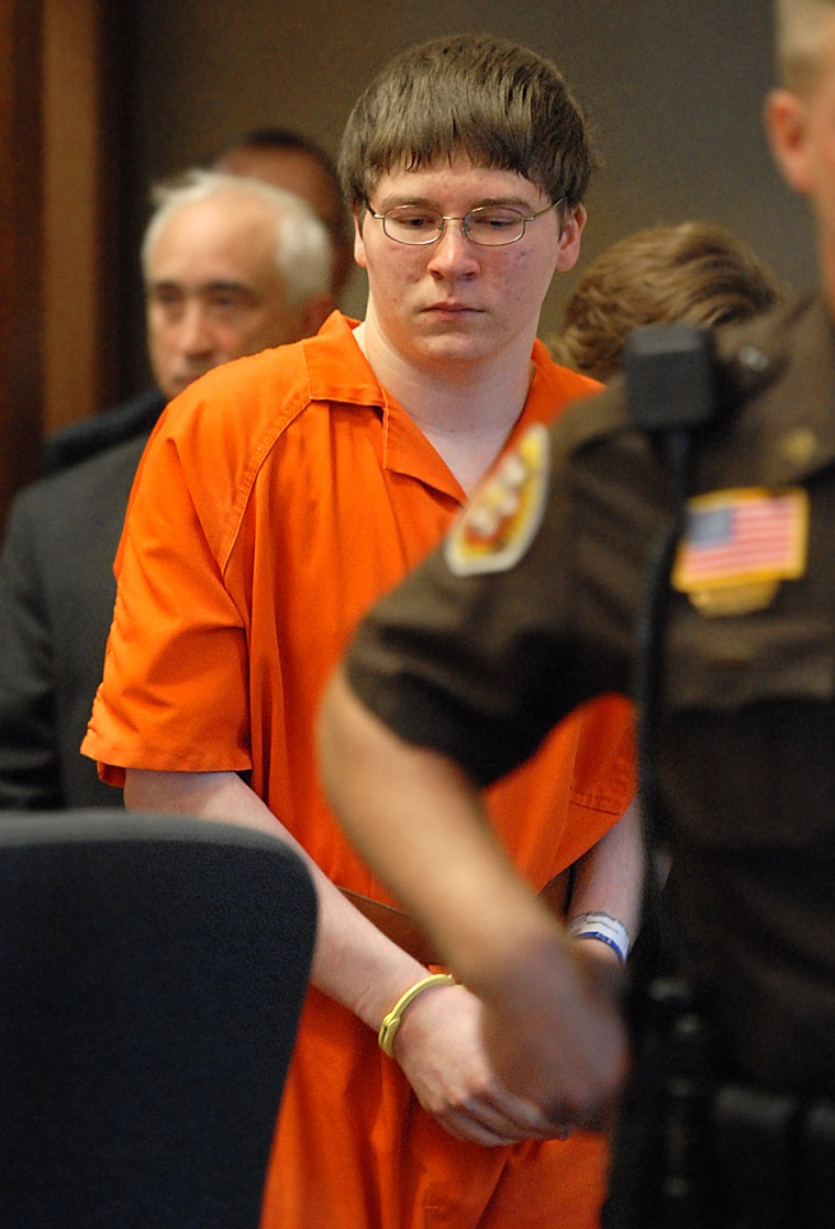 Brendan Dassey is escorted into court for his sentencing Thursday, Aug. 2, 2007, in Manitowoc, Wis.