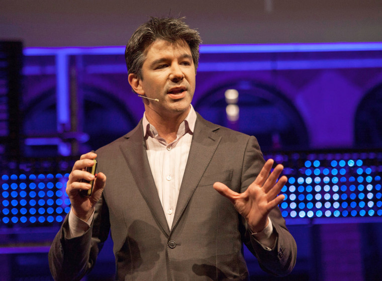 Travis Cordell Kalanick, co-founder of Uber, speaks in Amsterdam, The Netherlands in 2016.