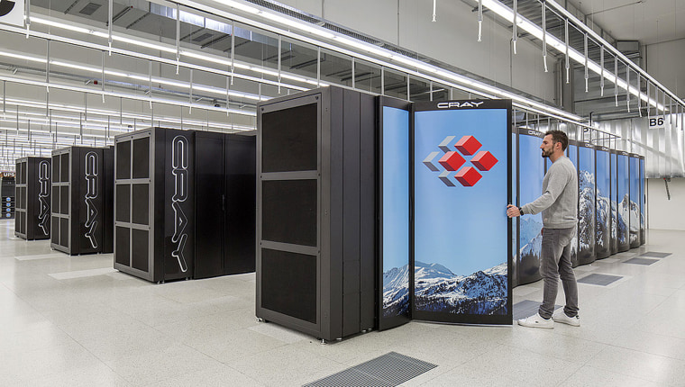 Image: The Swiss supercomputer located at the Swiss National Supercomputer Centre in Lugano.