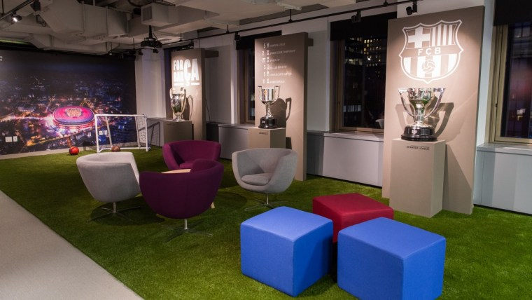FC Barcelona recently opened offices in New York City.