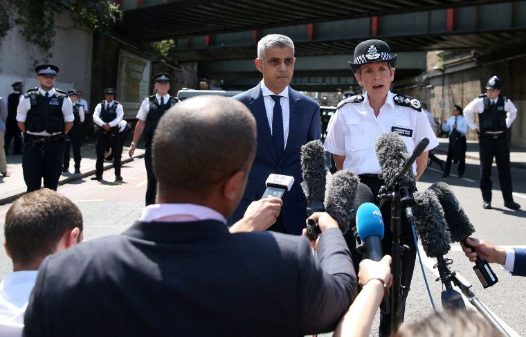Image: London Mayor Sadiq Khan with Metropolitan Police Commissioner Cressida Dick