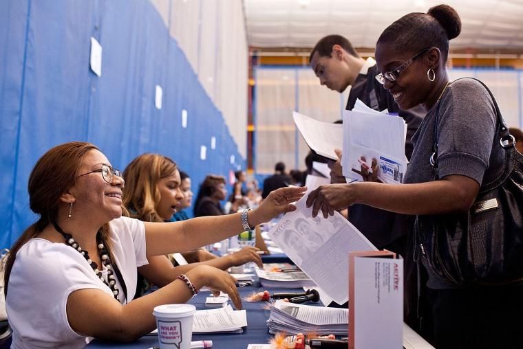 Image: Women at a job fair