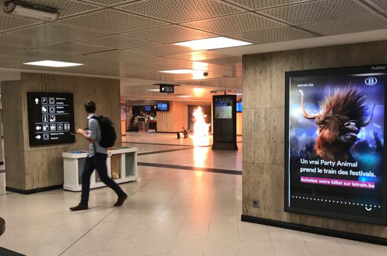 Explosion, Police Shooting Shuts Down Train Station in Brussels, Belgium