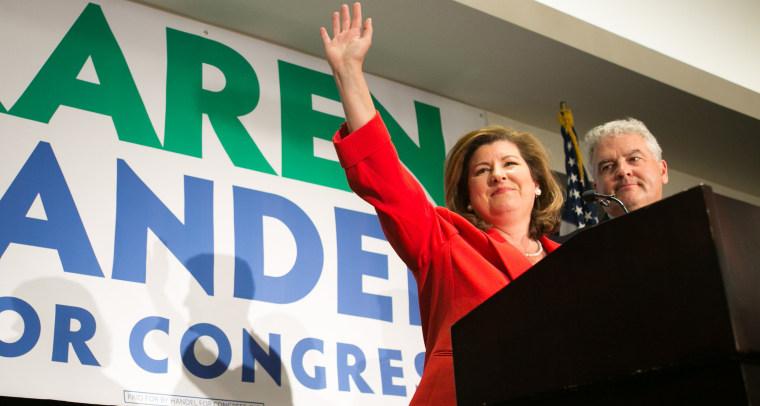 Image: GOP GA Congressional Candidate Karen Handel Holds Election Night Event