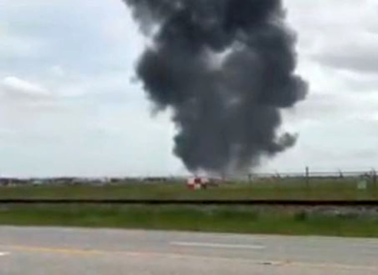 Image: Frame Grab From Video After F-16 Crash