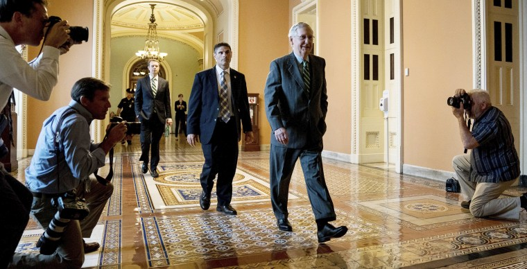 Image: McConnell arrives on Capitol Hill