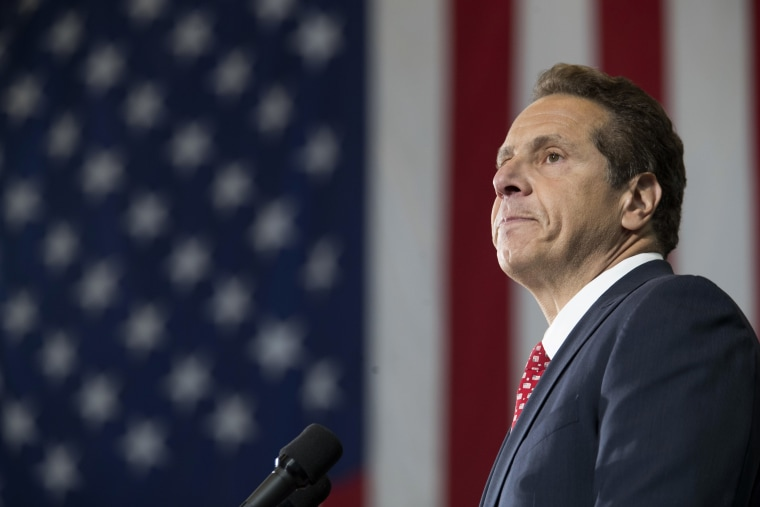 Image:New York Gov. Andrew Cuomo speaks at a rally, Tuesday, Jan. 6, 2017, in New York.