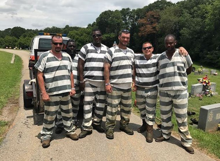 The inmates from Polk County, Georgia who helped save the life of a sheriff's deputy. One used the guard's work phone to call 911 while others removed the correctional officer's bulletproof vest so they could perform CPR and help cool him off.