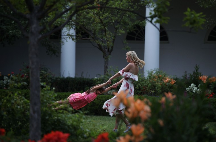 Image: Ivanka Trump plays with her daughter at The White House