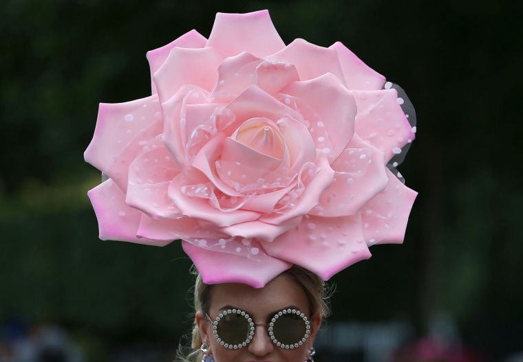Image: A woman at the Royal Ascot horse racing meet