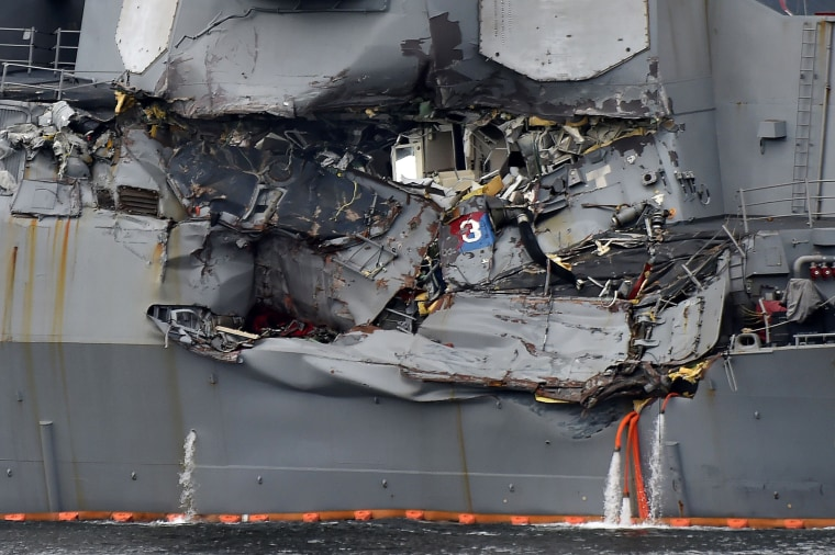 Image: Damage of the USS Fitzgerald vessel