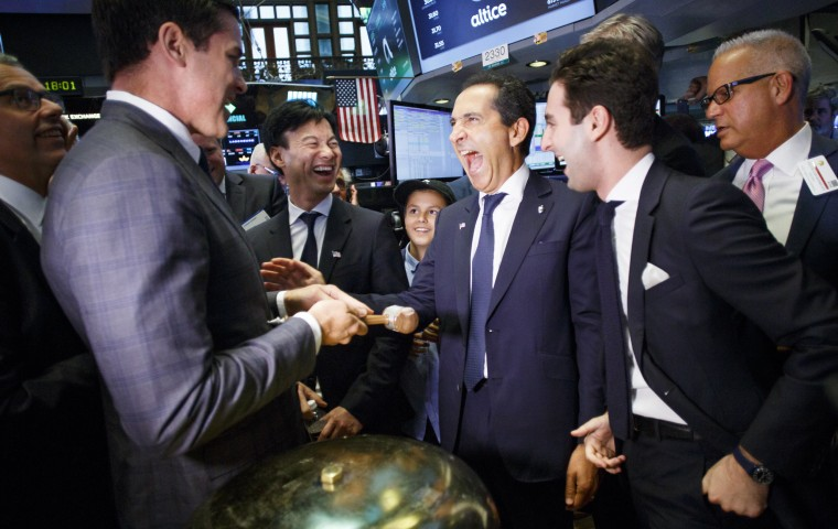 Image: Altice IPO at New York Stock Exchange
