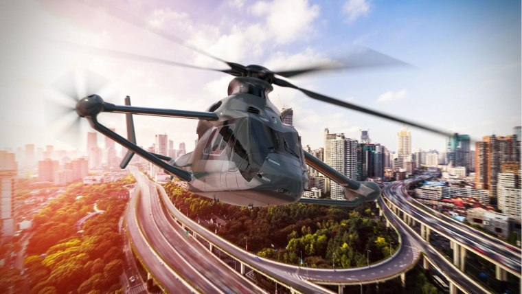 The new helicopter could reach speeds of nearly 250 mph (400 km/h), thanks to new technology and an advanced aerodynamic design.
