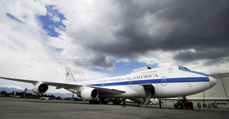 Image: Air Force E-4B National Airborne Operations Center aircraft