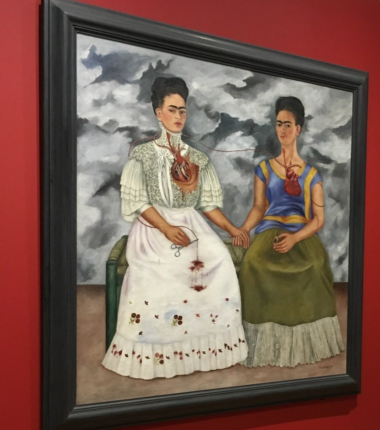 Las Dos Fridas/The Two Fridas is part of an exhibit ongoing at the Dallas Museum of Art through July 16, 2017.
