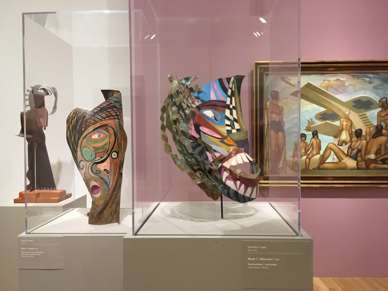 Works from an exhibit of 50 years of art from Mexico on display at the Dallas Museum of Art.