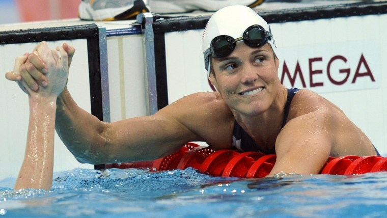 US swimmer Dara Torres competes at the Olympics